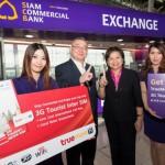 タイのスワンナプーム空港で100ドル両替でsimカードが無料で受け取れるサービス