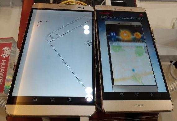 Huawei MediaPad X2とP8 max