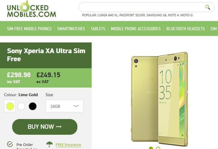 Xperia-XA-Ultra-price-uk