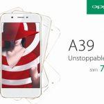 5.2型ディスプレイの「OPPO A39」、タイで発売、価格は約2.5万円