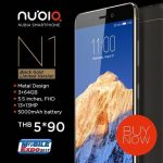 5000mAhバッテリー搭載のnubia N1 タイで発売、Mediatek Helio P10・RAM3GB、価格は約1.8万円