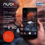 ZTE、タイで nubia Z11 mini S 発売、前面に1300万画素カメラ搭載の5.2型スマートフォン
