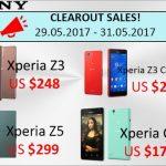 Etorenで「在庫一掃セール」、Xperia Z5が約3.6万円、Xperia Z3 Compact、Xperia C4、Xperia Z3の4機種
