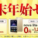 楽天モバイル、HUAWEI P10 lite , nova lite , AQUOS SH-M04が対象の「年末年始セール!」開催中【格安SIM】