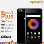 Micromax Bharat 5 Plus 発表、大容量バッテリー搭載の5.2インチHDスマートフォン