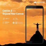 Micromax Canvas 2 2018 発表、4000mAhバッテリー搭載の5.7インチスマートフォン