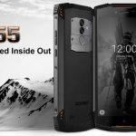DOOGEE S55 発売、5500mAhバッテリー搭載のタフネススマートフォン、価格160ドル