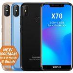 DOOGEE X70 発売、4000mAhバッテリー搭載でノッチ付きディスプレイの3Gスマートフォン、価格は80ドル