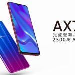6.4インチの「OPPO AX7 Pro」台湾で発売、2500万画素セルフィーカメラ・画面内指紋認証センサー搭載