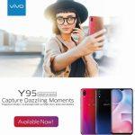 vivo Y95 発表、ノッチ付6.22インチ・指紋認証センサー搭載のファブレット